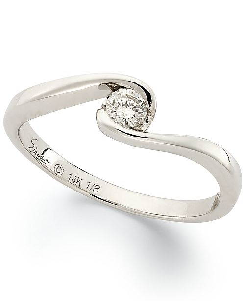 Sirena Diamond (1/8 ct. t.w.) Engagement Ring in 14k White Gold