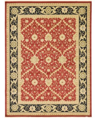 Orwyn Orw4 Red 5' x 8' Area Rug