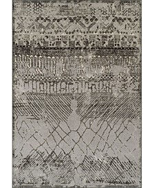 D Style Logan Lo8 Pewter Area Rugs Collection