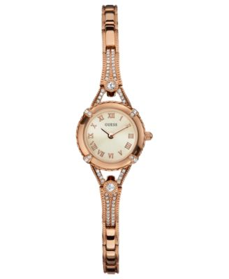 GUESS Watch Womens Rose Gold Tone Bracelet 22mm U0135L3 Watches