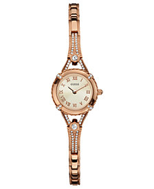 GUESS Watch, Women's Rose Gold Tone Bracelet 22mm U0135L3