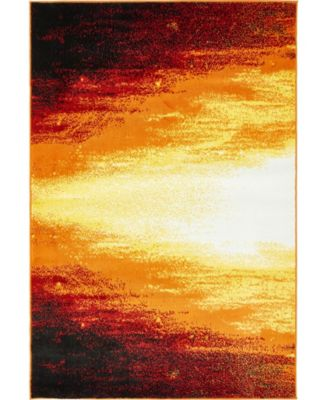 Politan Pol1 Orange 8' x 10' Area Rug