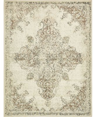 Tabert Tab7 Ivory 8' x 8' Square Area Rug
