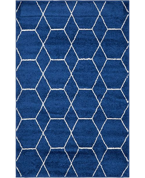 Bridgeport Home Plexity Plx1 Navy Blue Area Rug Collection