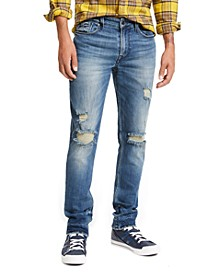 Men's Slim, Tapered Ripped Jeans