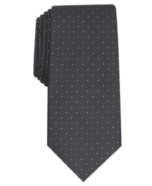 Alfani Men's Slim Grid Tie, Created for Macy's