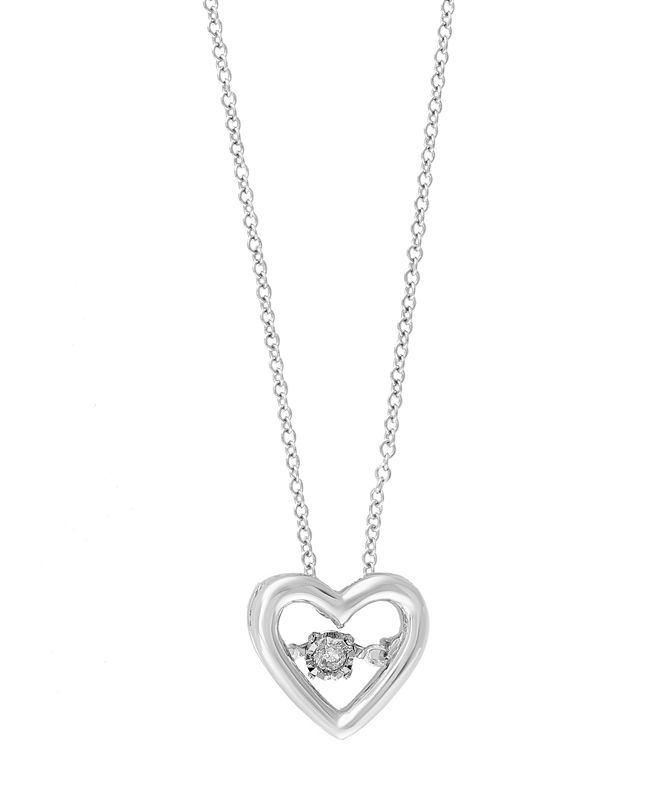 EFFY Collection Pave Classica By EFFY Diamond Accent Heart Pendant in 14k White Gold