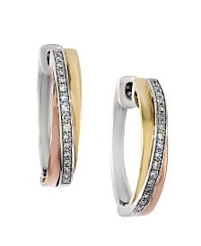 EFFY Diamond (1/6 ct. t.w.) Earrings in 14k Multi Gold