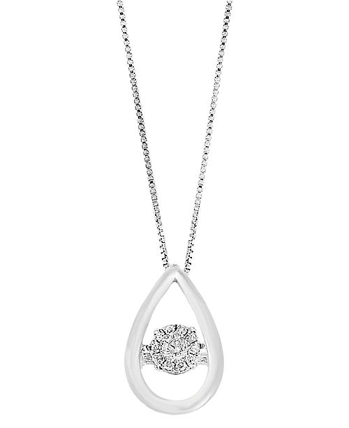 EFFY Collection EFFY Diamond Pendant (1/5 ct. t.w.) in Sterling Silver