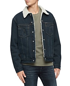 Men's Iconic Omega Sherpa Denim Jacket