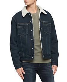Men's Iconic Omega Sherpa Denim Jacket