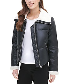 Women's Sherpa Lined Puffer Jacket