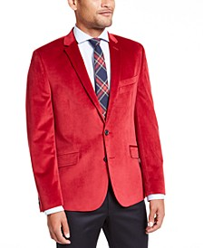 Men's Slim-Fit Velvet Sport Coat