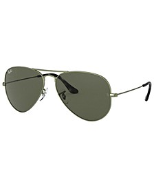AVIATOR LARGE METAL Sunglasses, RB3025 58
