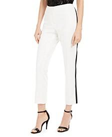 Petite Straight-Leg Tuxedo Dress Pants