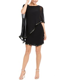 28th & Park Embellished Cape Sheath Dress, Created For Macy's
