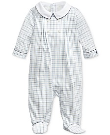 Polo Ralph Lauren Baby Boys Printed Interlock One Piece Coverall