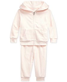 Baby Girls Velour Hoodie & Pants