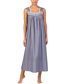 Chambray Swiss Dot Ballet Nightgown