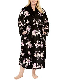Plus Size Long Plush Robe, Created For Macy's