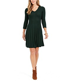 Petite Cable-Knit Sweater Dress