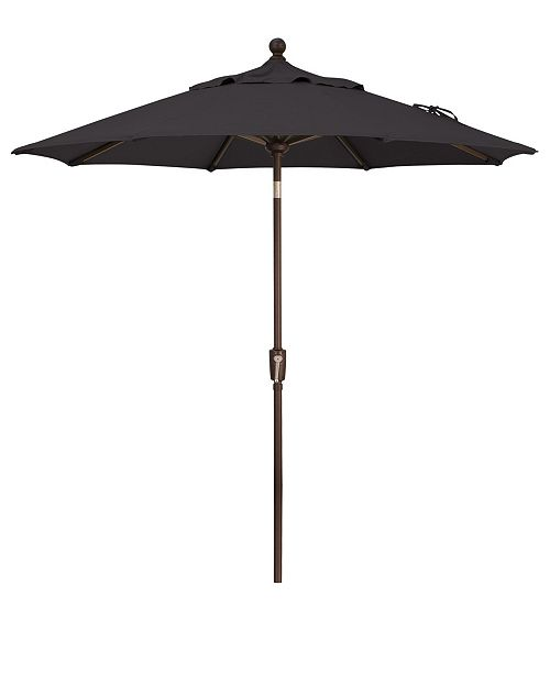 Treasure Garden Outdoor Bronze 7.5' Push Button Tilt Umbrella