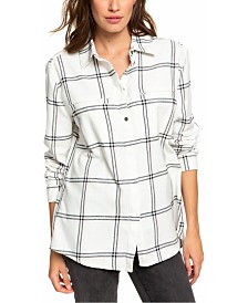Roxy Juniors' Young Again Plaid Shirt