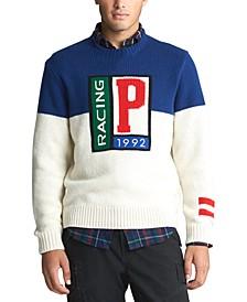 폴로 랄프로렌 Polo Ralph Lauren Mens Wool P Racing Sweater,Soho Blue