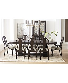Charleston Lane Dining 9-Pc. Set (Expandable Table, 6 Side Chairs & 2 Arm Chairs)