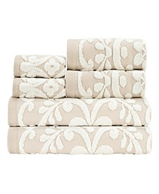 Emma 100% Cotton 6-Pc. Towel Set