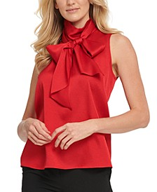 Bow Mock-Neck Blouse