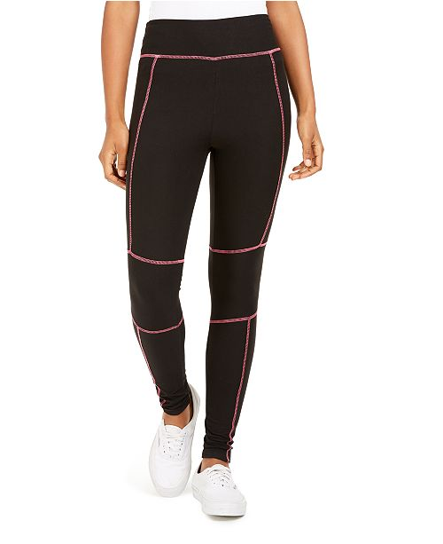 Planet Gold Juniors' Neon Stitch Leggings