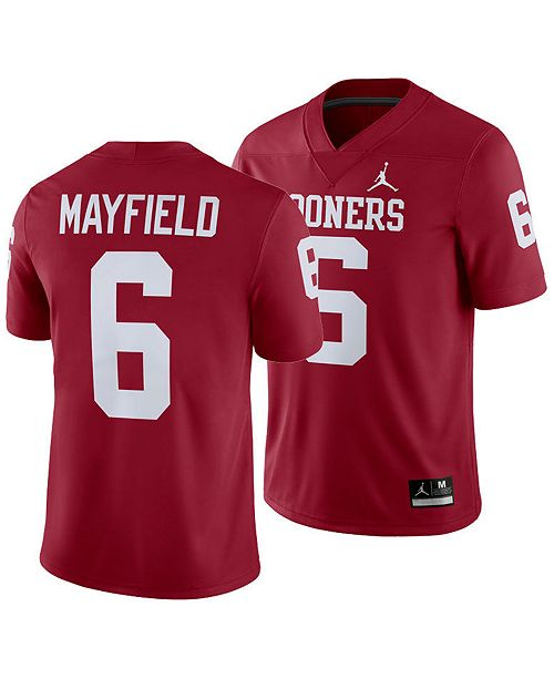 buy popular dbc8d a0690 Men's Baker Mayfield Oklahoma Sooners Player Game Jersey
