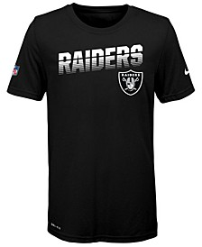 Big Boys Oakland Raiders Sideline T-Shirt
