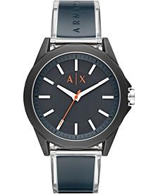 Men's Drexler Blue Polyurethane Strap Watch 44mm