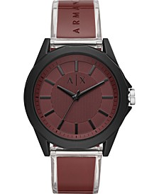 Men's Drexler Burgundy Polyurethane Strap Watch 44mm