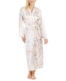 Women's Satin Floral-Print Robe