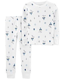 Toddler Boys 2-Pc. Cotton Hanukkah Printed Pajamas Set