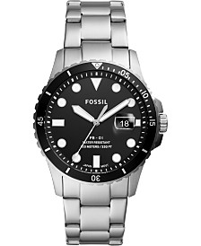 Fossil Men's Blue Dive Stainless Steel Bracelet Watch 42mm