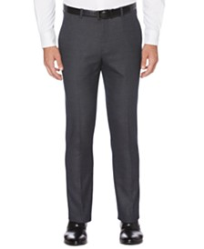 Perry Ellis Portfolio Men's Extra Slim-Fit Stretch Heathered Pattern Dress Pants