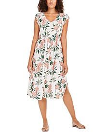 Juniors' Floral Midi Dress