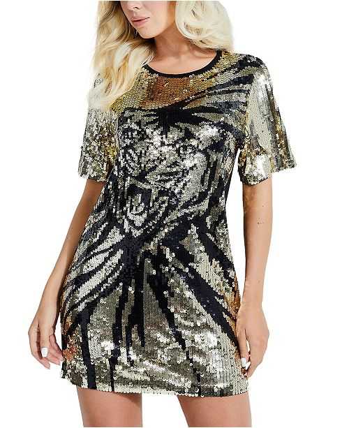 GUESS Sequin Tiger Dress