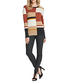 DKNY Colorblocked Crewneck Sweater