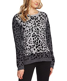 Leopard-Print Colorblocked Sweater