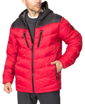 Hawke & Co. Outfitter Men's Packable Chevron Parka In Chilipepper/carbon