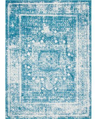 Mishti Mis1 Blue 5' x 8' Area Rug