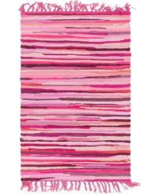 Jari Striped Jar1 Pink 2' 7