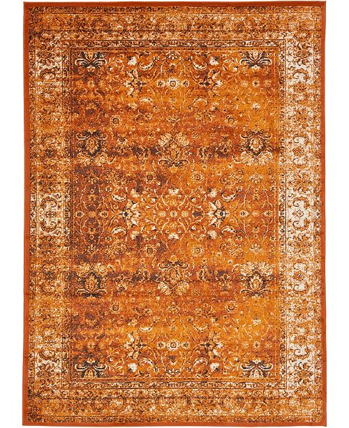 Bridgeport Home Linport Lin1 Terracotta/Ivory Area Rug Collection