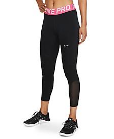 Nike Pro Mesh-Trimmed Leggings