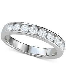 Diamond Channel-Set Band (7/8 ct. t.w.) in 14k White Gold
